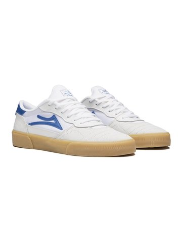 LAKAI CAMBRIDGE - WHITE/BLUE SUEDE