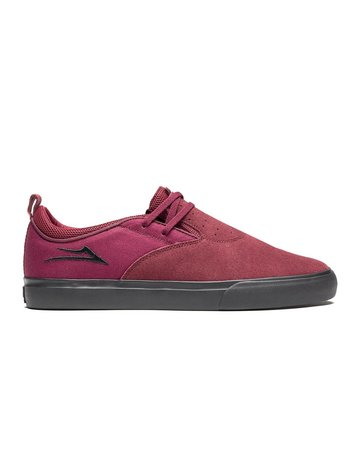 LAKAI RILEY 2 - BURGUNDY/BLACK SUEDE