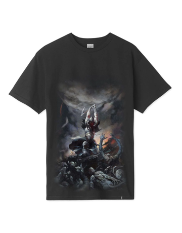 HUF FRAZETTA DEATH DEALER S/S TEE - BLACK