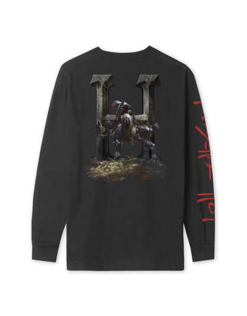 HUF FRAZETTA DEATH DEALER L/S TEE - BLACK