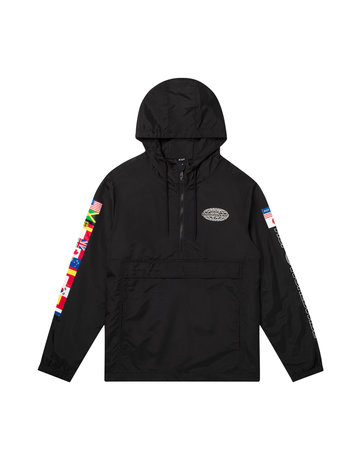 HUF WORLD TOUR ANORAK - BLACK