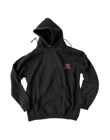 TOY MACHINE MONSTER EMBROIDERED HOODIE - BLACK