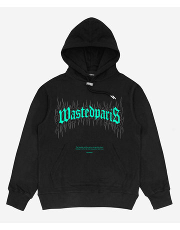 WASTED PARIS FIRE BRIDGE HOODIE - BLACK