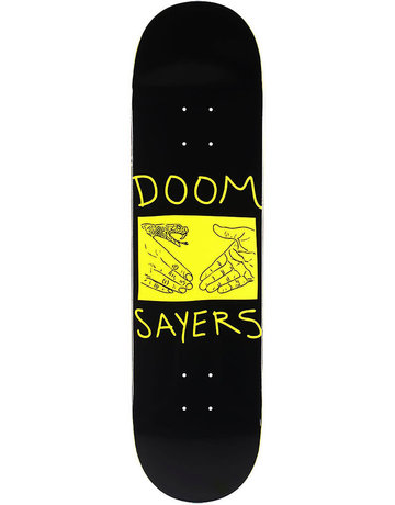 DOOM SAYERS SNAKE SHAKE DECK BLACK/YELLOW - 8.28
