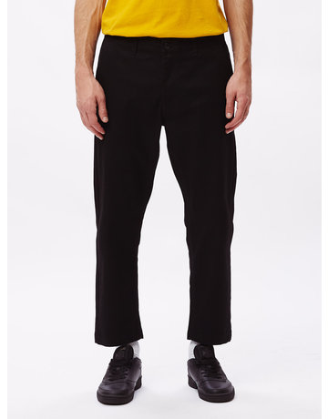 OBEY STRAGGLER FLOODED PANTS - BLACK