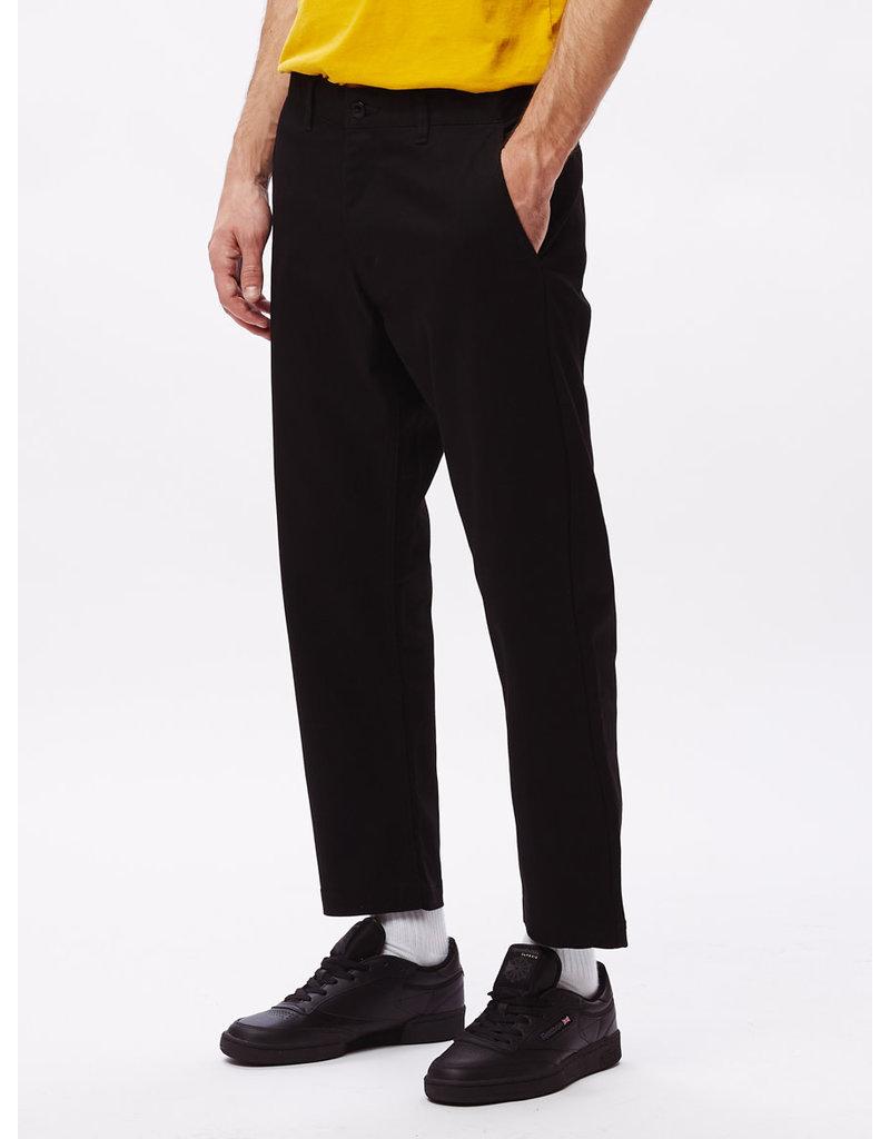 OBEY STRAGGLER FLOODED PANTS - BLACK
