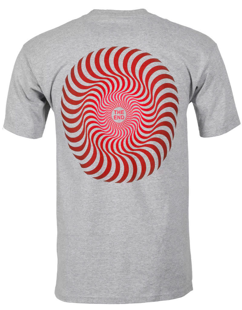 SPITFIRE CLASSIC SWIRL FADE TEE - ATHLETIC HEATHER
