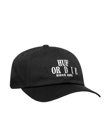HUF HUF OR DIE CV 6 PANEL HAT - BLACK