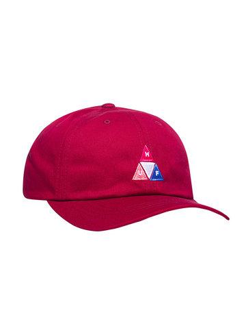 HUF PEAK LOGO CV 6 PANEL HAT - RED PEAR