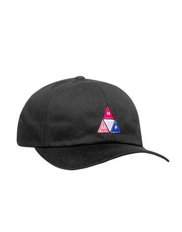 HUF PEAK LOGO CV 6 PANEL HAT - BLACK