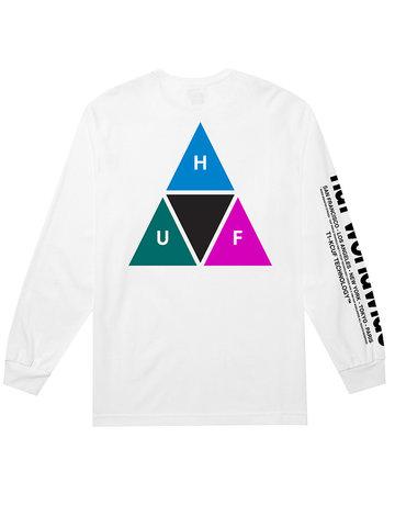 HUF PRISM TT L/S TEE - WHITE
