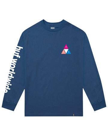 HUF PRISM TT L/S TEE - INSIGNIA BLUE