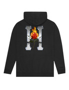 HUF EMBER ROSE CLASSIC H PULLOVER HOODIE - BLACK