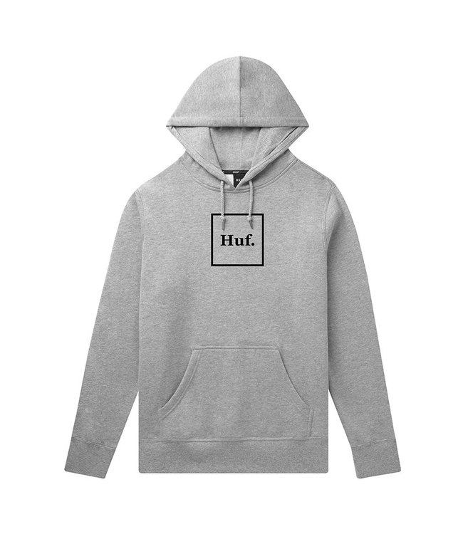 HUF ESSENTIALS BOX LOGO P/O HOODIE - GREY HEATHER