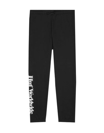 HUF ESSENTIALS FLEECE PANT - BLACK
