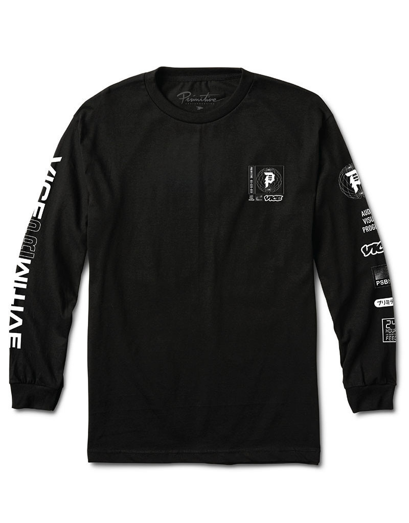 PRIMITIVE PRIMITIVE X VICE FEED LONGSLEEVE TEE - BLACK