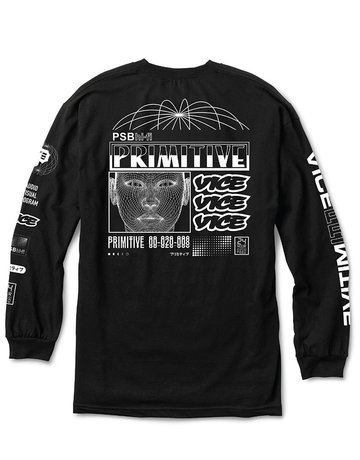 PRIMITIVE PRIMITIVE X VICE FEED L/S TEE - BLACK