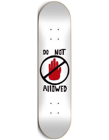 SKATE MENTAL BRAD STABA DO NOT ALLOWED DECK - 8.5