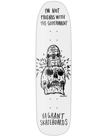 VAGRANT HIROTTON SKULL SHAPED DECK WHITE - 8.38