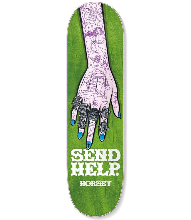 SEND HELP HORSEY RINGS DECK GREEN - 8.375