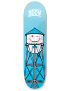 SEND HELP SMILEY DECK BLUE - 8.25