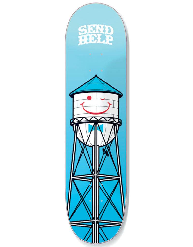SEND HELP SMILEY DECK BLUE - 8.5