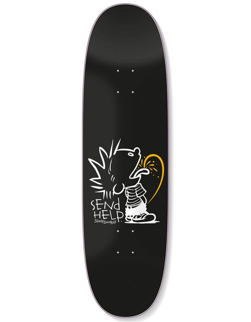SEND HELP TEE TEE SHAPED DECK BLACK - 9.0