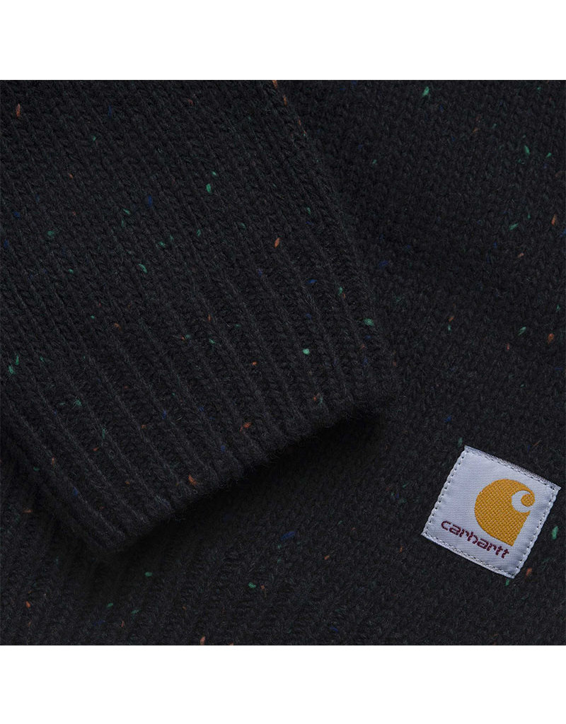 CARHARTT ANGLISTIC SWEATER - BLACK HEATHER
