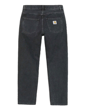 CARHARTT NEWEL PANT - BLACK STONE WASHED