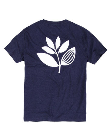 MAGENTA HEART PLANT TEE - HEATHER NAVY