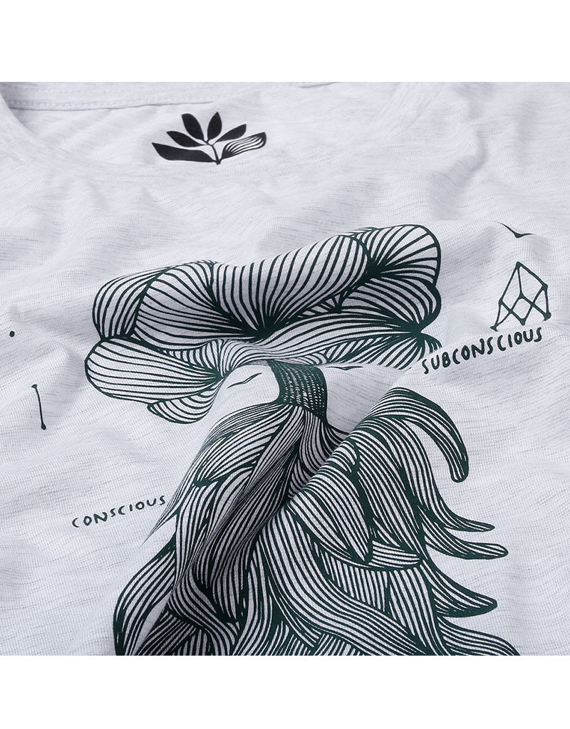 MAGENTA TREE TEE - ASH