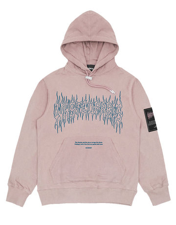 WASTED PARIS FIRE II HOODIE - CLAY PINK