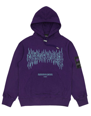 WASTED PARIS FIRE II HOODIE - PURPLE