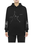 WASTED PARIS COLLAPSE HOODIE SILVER/REFLECTIVE - BLACK