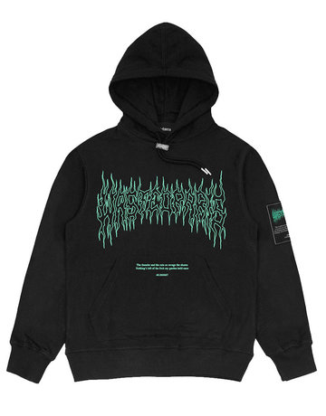 WASTED PARIS FIRE II HOODIE - BLACK