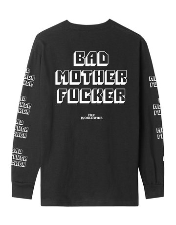 HUF BAD MOTHER FUCKER L/S TEE - BLACK