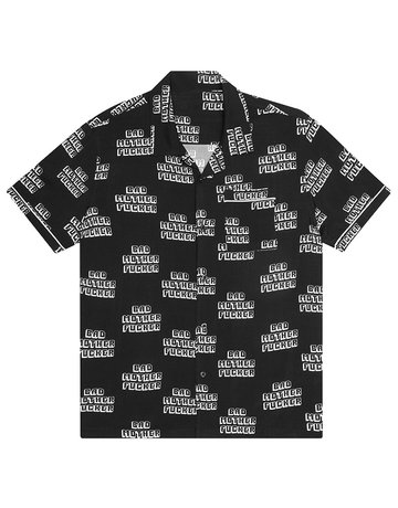 HUF PULP FICTION BAD MF WOVEN TOP - BLACK