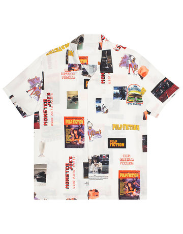 HUF PULP FICTION PHOTO WOVEN TOP - WHITE
