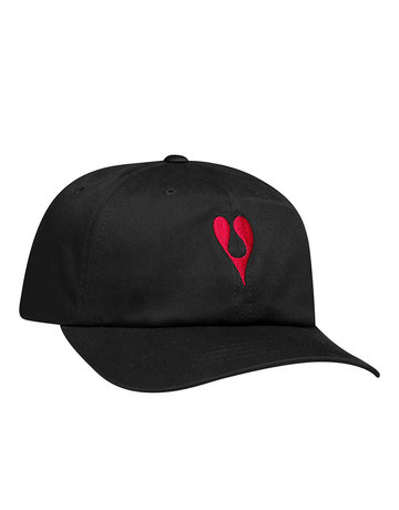 HUF PHIL FROST CV 6 PANEL HAT - BLACK