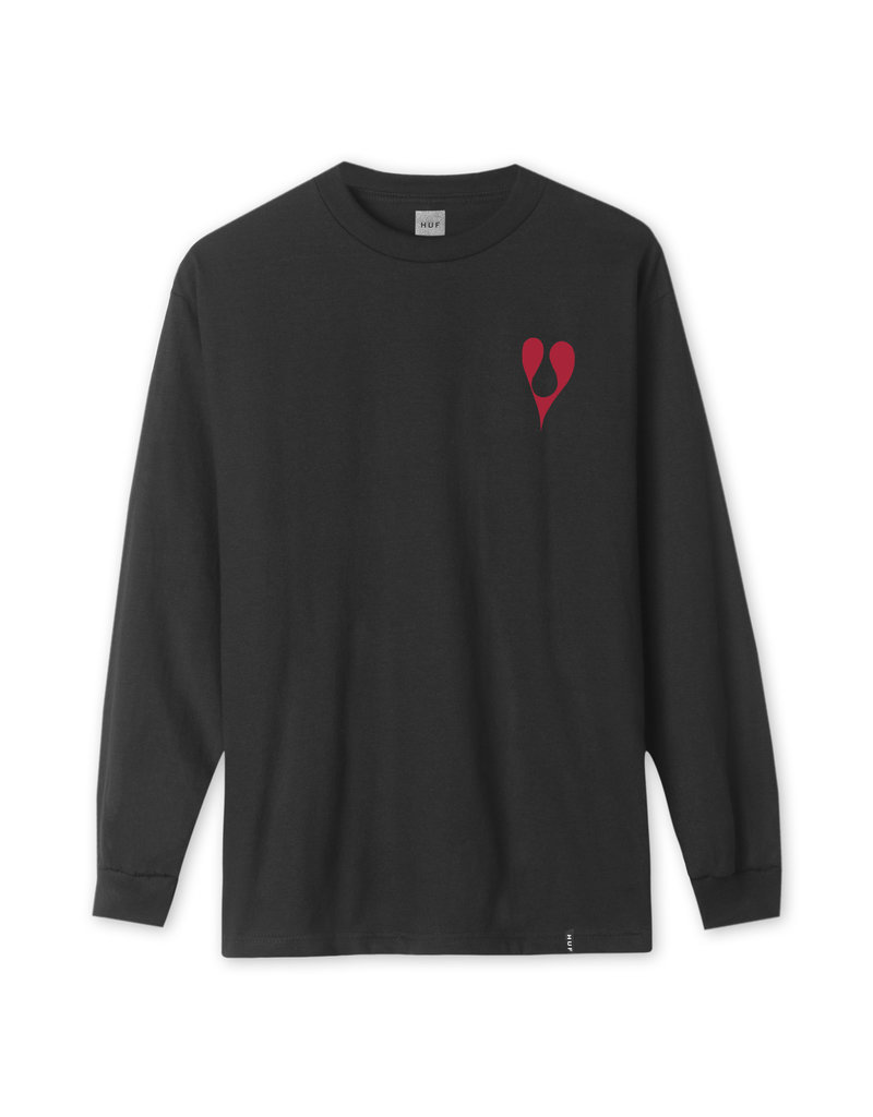 HUF PHIL FROST L/S TEE - BLACK