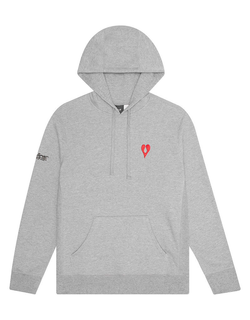 HUF PHIL FROST P/O HOODIE - GREY HEATHER