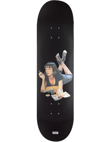 HUF PULP FICTION SKATEBOARD DECK - BLACK