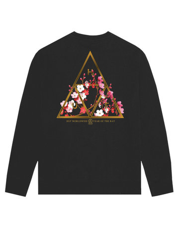 HUF YEAR OF THE RAT TT CREWNECK - BLACK