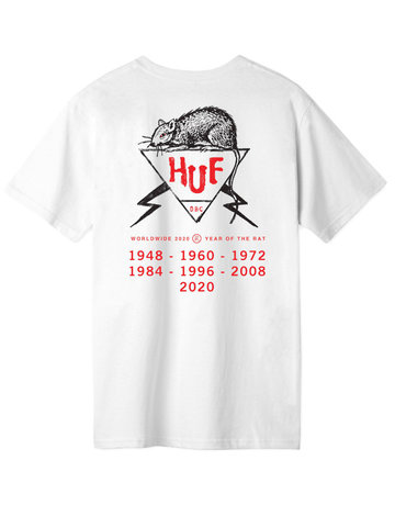 HUF YEAR OF THE RAT DBC S/S TEE - WHITE