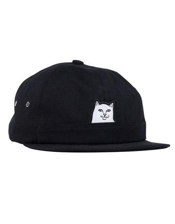 RIPNDIP LORD NERMAL 5 PANEL POCKET HAT - BLACK