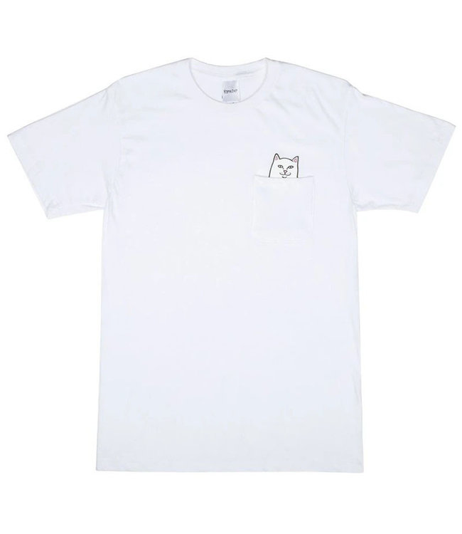 RIPNDIP LORD NERMAL POCKET TEE - WHITE