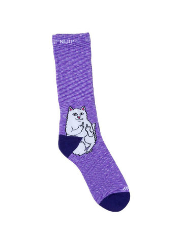 RIPNDIP LORD NERMAL SOCKS - PURPLE SPECKLE