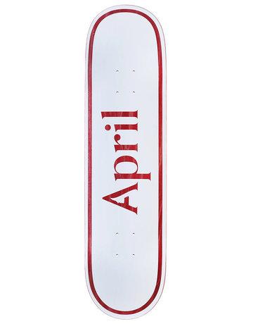 APRIL SKATEBOARDS LOGO DECK RED - 8.0
