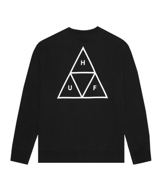 HUF ESSENTIALS TT CREW - BLACK