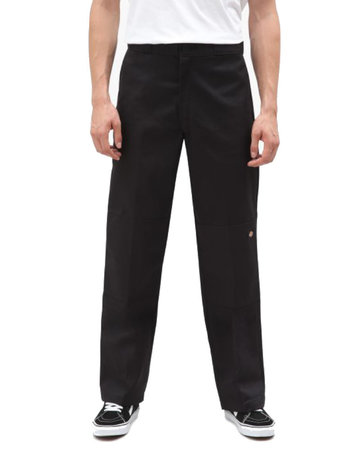 DICKIES DOUBLE KNEE WORK PANT - BLACK
